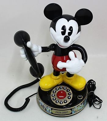 DISNEY Mickey Mouse Talking Telephone 1928-07 Simulated Rotary Push Button Dial