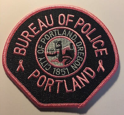 Portland Oregon Police Breast Cancer Awareness patch