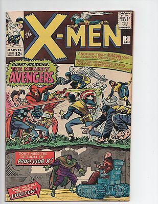 X-Men #9 Silver Age Early Avengers Appearance 7.0 FN/VF