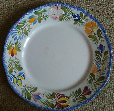 Henriot Quimper Bordure hand-painted 11 inch plate #2 - look!