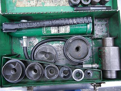 """Greenlee 7306 Hydraulic Knock/Out Punch Driver Set  - 1/2"""" - 3"""""""