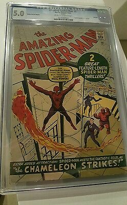 Amazing Spiderman 1, Journey into Mystery 83, Avengers 4, Fantastic Four 1 - CGC