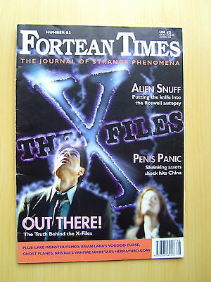 Fortean Times Uk Magazine #82, Aug/sept 1995 - The X-Files Featured Edition