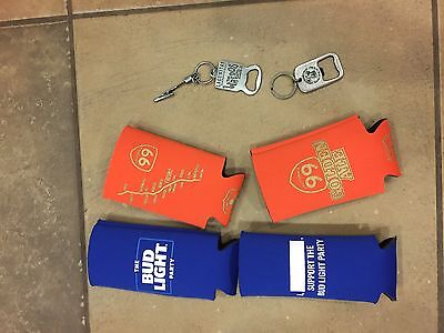 4 Beer Bottle Can Cozy Kozy Koozie Bud Light 99 Ale Lagunitas keychain openers