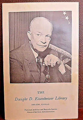 Dwight D. Eisenhower Library Flyer With Some Photos