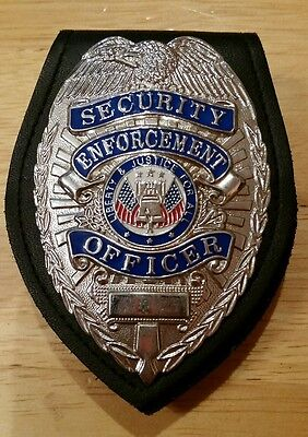 Security Enforcement officer badge Silver in Perfect fit Belt holder NICE LOOK