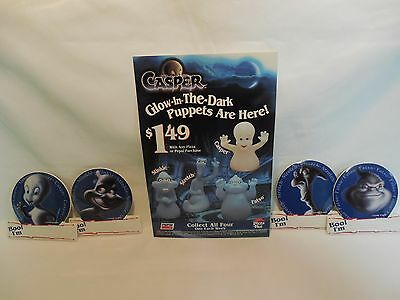 Casper The Friendly Ghost Fatso Stinkie Stretch Boo Pinbacks & Table Card Pepsi