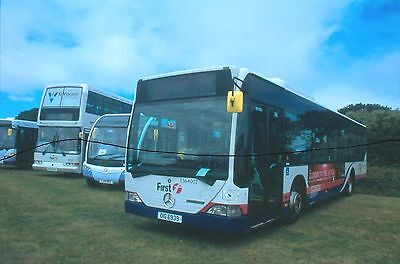 Original Bus Colour Slide First Hampshire Merc,dennis Trident,optare At Stokes B
