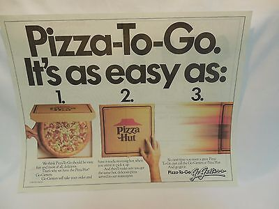 Pizza Hut Placemat Pizza-To-Go Go Getters Care Bears Color Sheet Vintage 1987
