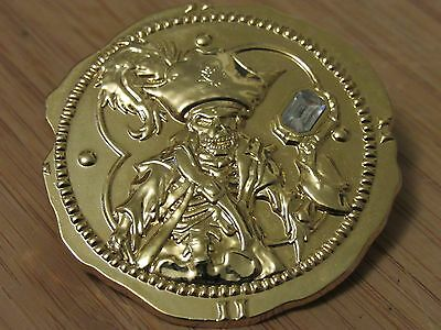 Disney Trading Pin - 2007 Pirates Of The Caribbean Gold Coin Doubloon Skeleton