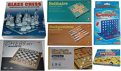 Game Glass Chess/Carry Chess/ Backgammon/ Morris/ Solitaire/ Line Up 4/ Spelling