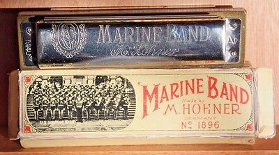 VINTAGE - HOHNER MARINE BAND  No. 1896 Made in Germany Harmonica