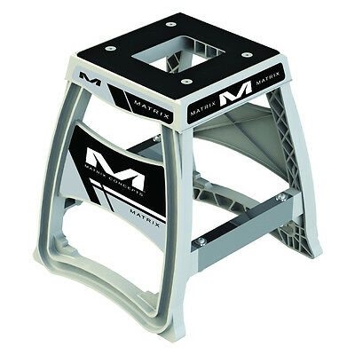 Matrix Concepts M64 Elite MX Stand - White Motocross Offroad Service Garage Stor