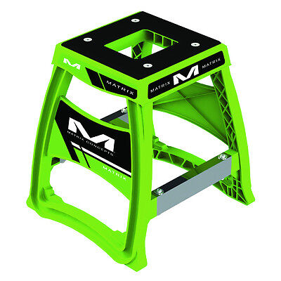 Matrix Concepts M64 Elite MX Stand - Green Motocross Offroad Service Garage Stor