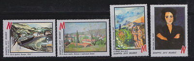 Belarus. Artists of Paris School 4v MNH 2015