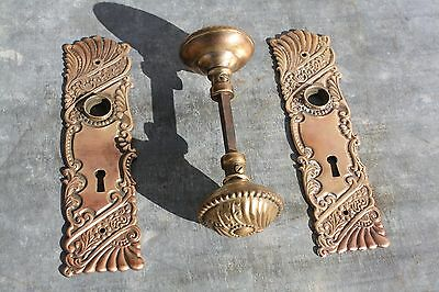 Antique Architecture  Door Hardware, Victorian Knobs and Plates, Solid Brass