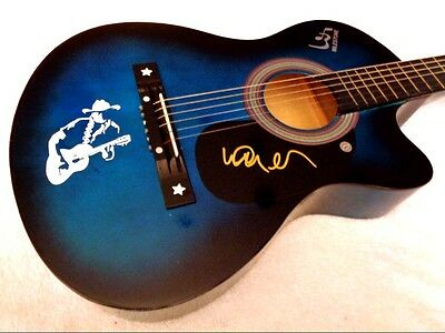 WILLIE NELSON Autographed Signed Acoustic Guitar w/ COA, NEW! - NO RESERVE!