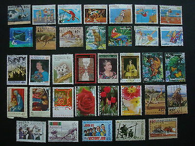 1990-1994 - 35 x Used Australian Sheet Stamps  - #12