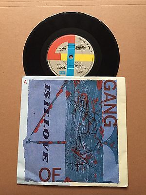 "GANG OF FOUR 'Is It Love' 7"" The Fall Talking Heads XTC Wire Buzzcocks"
