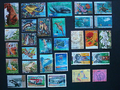1995-1999 - 30 x Used Australian Sheet Stamps  - #10