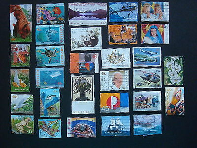 1995-1999 - 30 x Used Australian Sheet Stamps  - #13