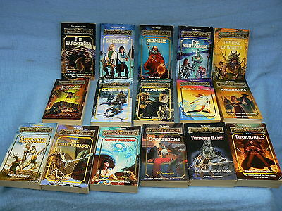 FORGOTTEN REALMS Dungeons & Dragons LOT OF ALL SIXTEEN HARPERS NOVELS