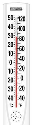 "Springfield Big & Bold, White, 15"" x 3"", Outdoor Tube Thermometer 90111-000-000"