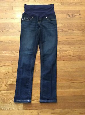 Great Expectations Maternity Skinny Jeans Euc Dark Denim Size Small 4-6 ��������