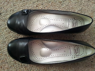 Homy Peds SHOES , BLACK leather size 6