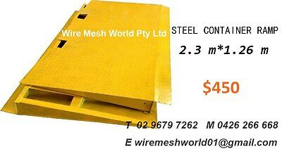 Steel Container Ramp 2.3m* 1.26m*5mm thickness