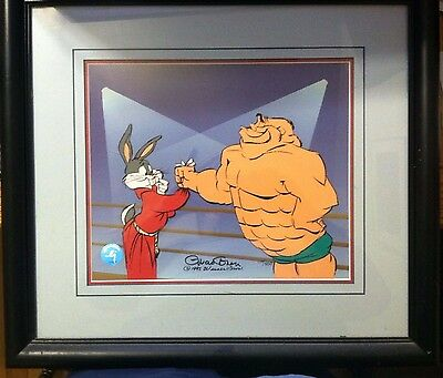 Bugs Bunny and the Crusher Animation Cel Signed by Chuck Jones