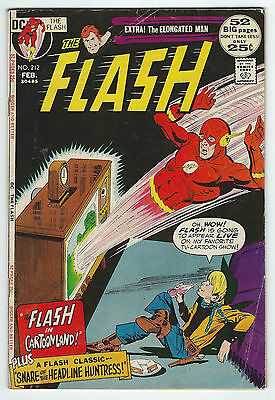 1972 The Flash (52 BIG pages!) #212 (3.5/VG-) *FREE SHIPPING
