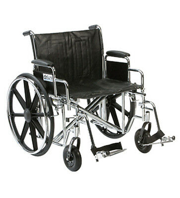"Drive Medical SENTRA BARIATRIC Wheelchair - SELF PROPELLED 24"" Seat Width"