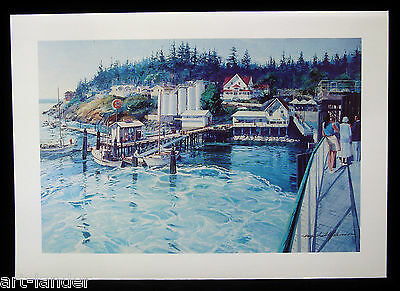 8 Orcas Island Ferry Washington State Fine Note Cards~ Marshall Johnson no env.