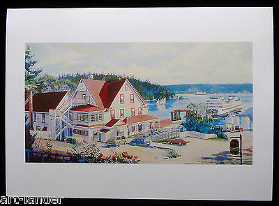 8 Orcas Island Hotel Ferry Boats Fine Art Blank Note Cards by Marshall Johnson