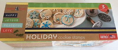 Nordic Ware Holiday Cast Cookie Stamps, Set of 3