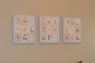 Restoration Hardware baby wall decor - VINTAGE ALPHABET ART SET OF 3