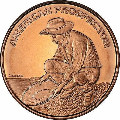 20 Ounces Of Copper 1 oz Each AMERICAN PROSPECTOR Design  Bullion Rounds