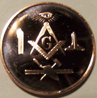 100 Ounces Of Copper 1 oz Each MASONIC INSIGNIA DESIGN Bullion Rounds