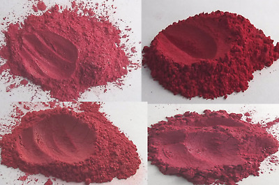 Bright Red Mica Collection Natural Cosmetic Grade Home DIY Makeup Blush Lipstick