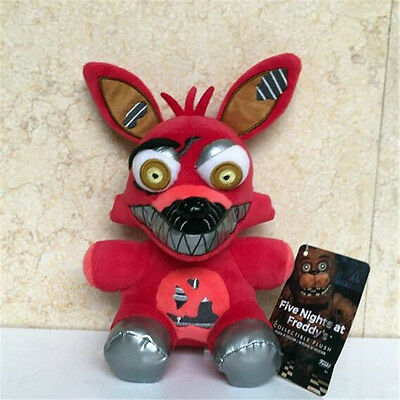 "New Rare Funko Five Nights at Freddys Red Foxy 6"" Plush Toy Doll"
