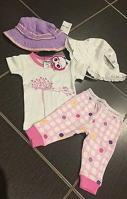 BRAND NEW Baby Girls Summer Clothes Outfit & Hats  RRP  $60