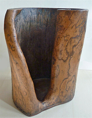 Chinese brush pot in the form of a tree trunk, 19th century