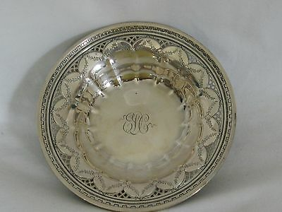 TOWLE STERLING Vintage Small Bowl #S 623 Pierced Lattice Floral Greek Key 90g