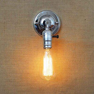 Chrome Adjustable Vintage Industrial Retro Sconce Wall Light Lamp Fitting Cafe