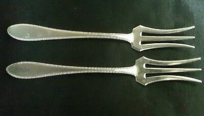 Pair of Dutch Sterling Silver Pickle Forks