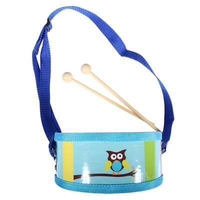 Children Kids Mini Musical Fun Wooden Toy Double Sided Drum with Drumsticks