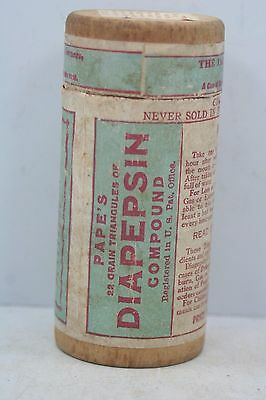 Vintage Wooden Diapepsin Compound Container -Advertising - w/ Directions