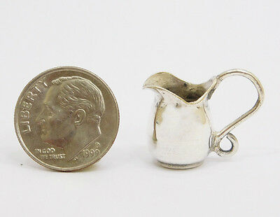 Vintage Silver Cream Pitcher or Water Pitcher Dollhouse Miniature 1:12 Scale