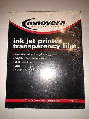 Transparency Film: Sealed 50 Sheets Laser Printer Innovera IVR-65125